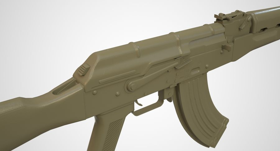 AKM AK-47 royalty-free 3d model - Preview no. 36