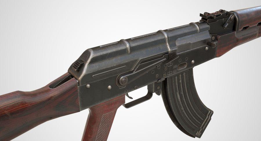 AKM AK-47 royalty-free 3d model - Preview no. 4