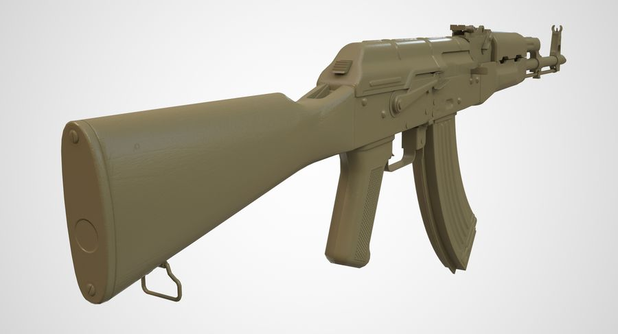 AKM AK-47 royalty-free 3d model - Preview no. 41