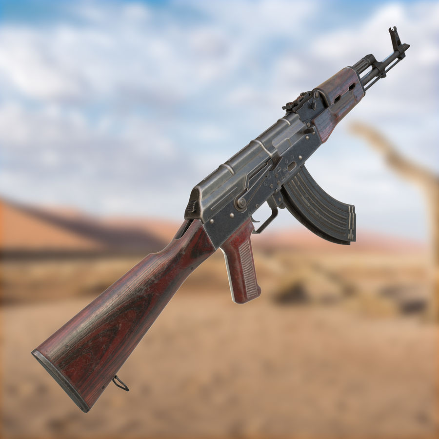 AKM AK-47 royalty-free 3d model - Preview no. 2