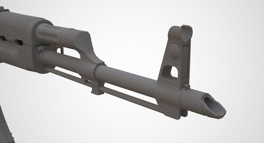 AKM AK-47 royalty-free 3d model - Preview no. 23