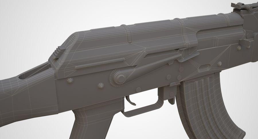 AKM AK-47 royalty-free 3d model - Preview no. 34