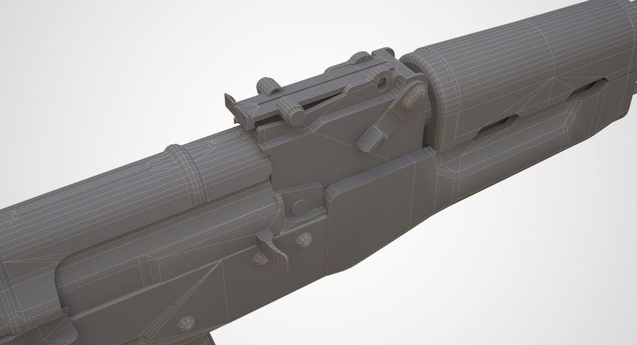 AKM AK-47 royalty-free 3d model - Preview no. 21