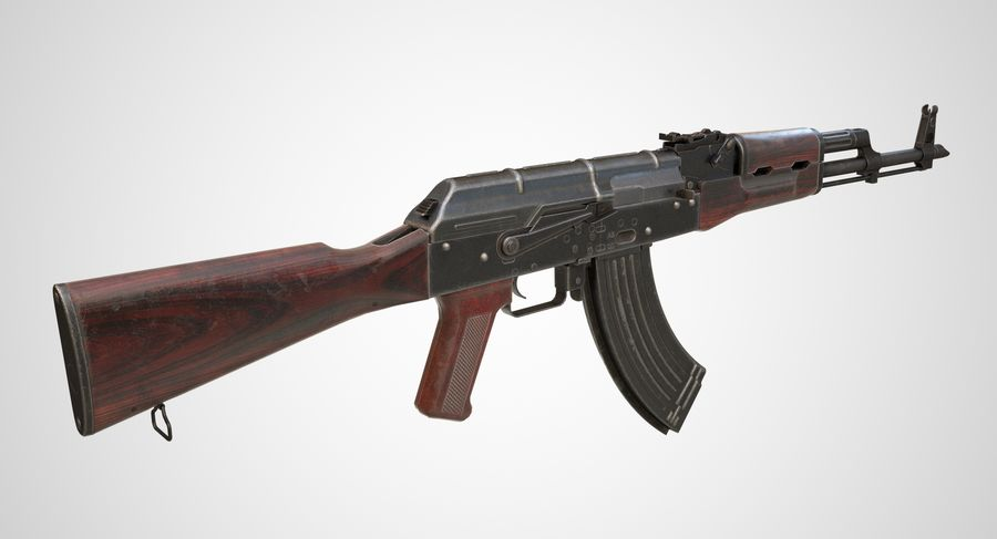 AKM AK-47 royalty-free 3d model - Preview no. 3