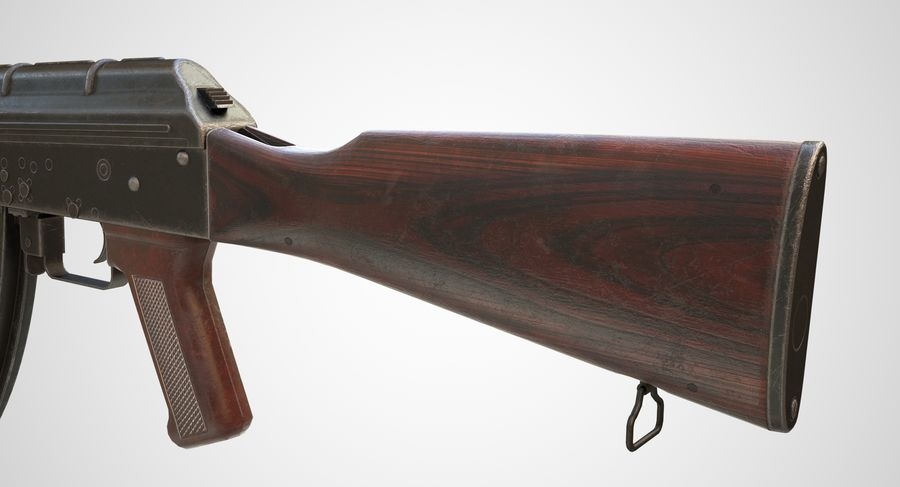AKM AK-47 royalty-free 3d model - Preview no. 10