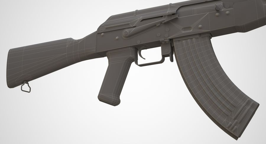 AKM AK-47 royalty-free 3d model - Preview no. 24