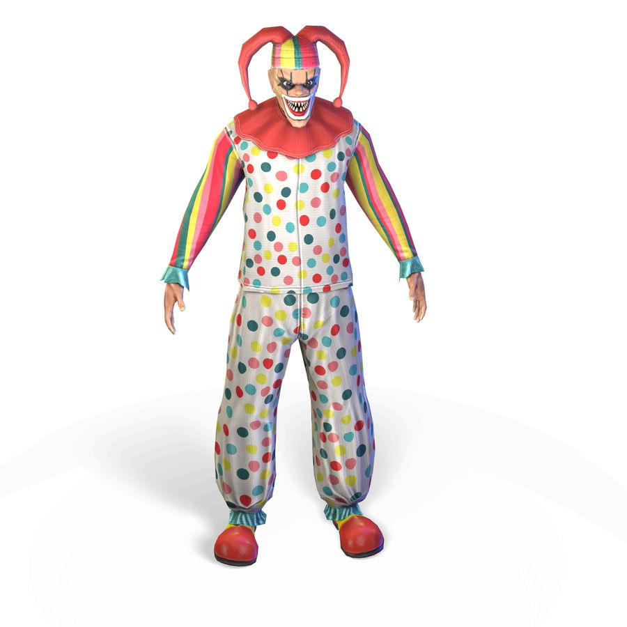 Clown royalty-free 3d model - Preview no. 11