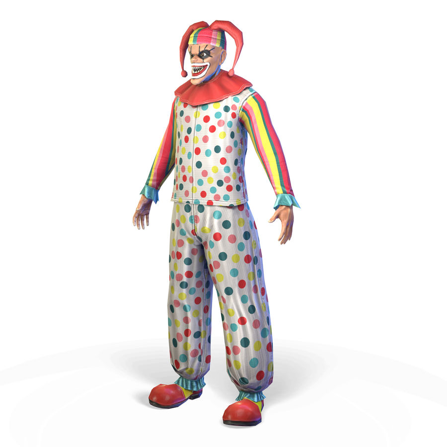 Clown royalty-free 3d model - Preview no. 9