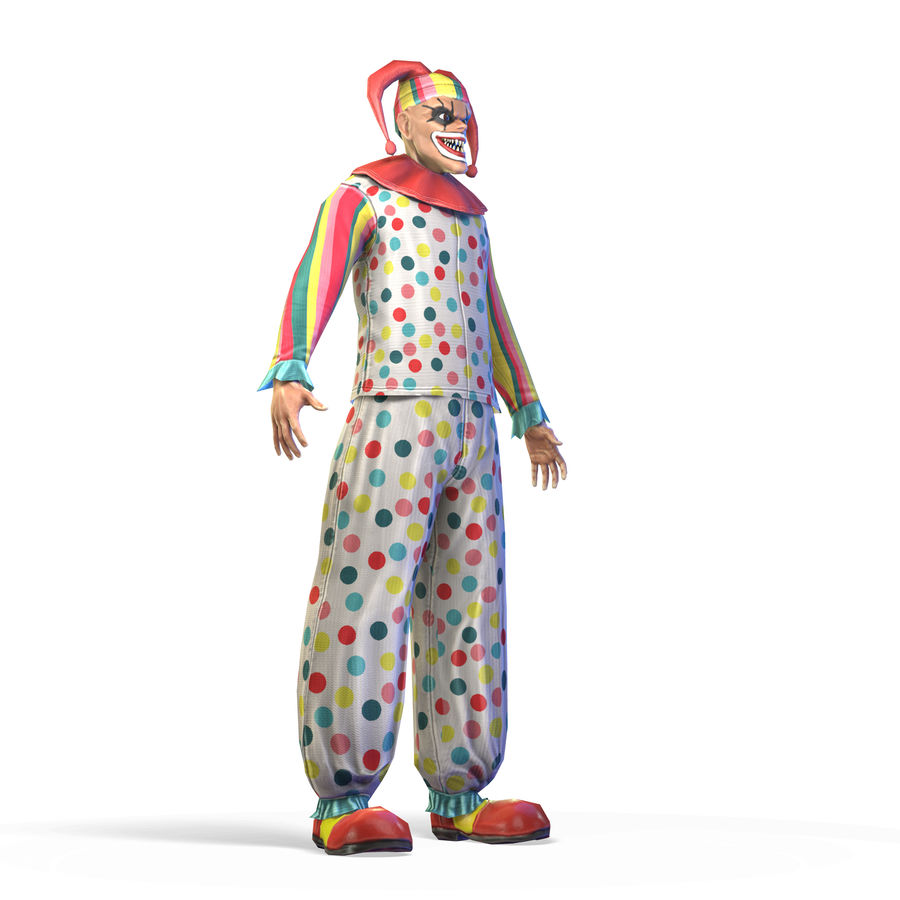 Clown royalty-free 3d model - Preview no. 22