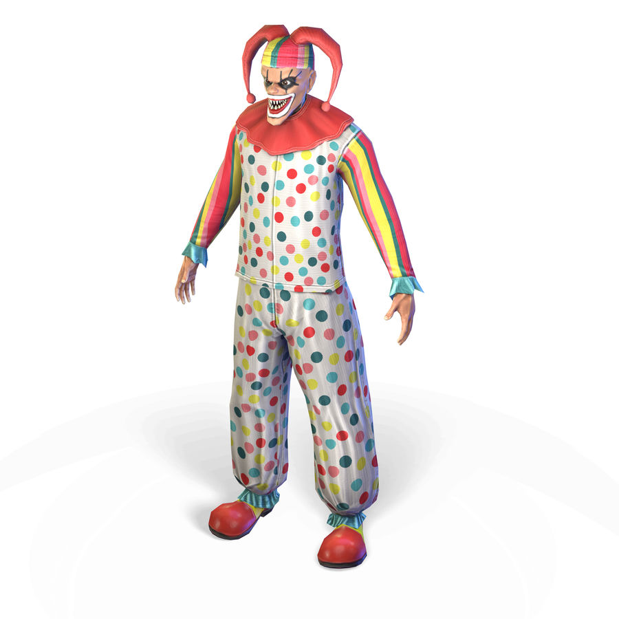 Clown royalty-free 3d model - Preview no. 10