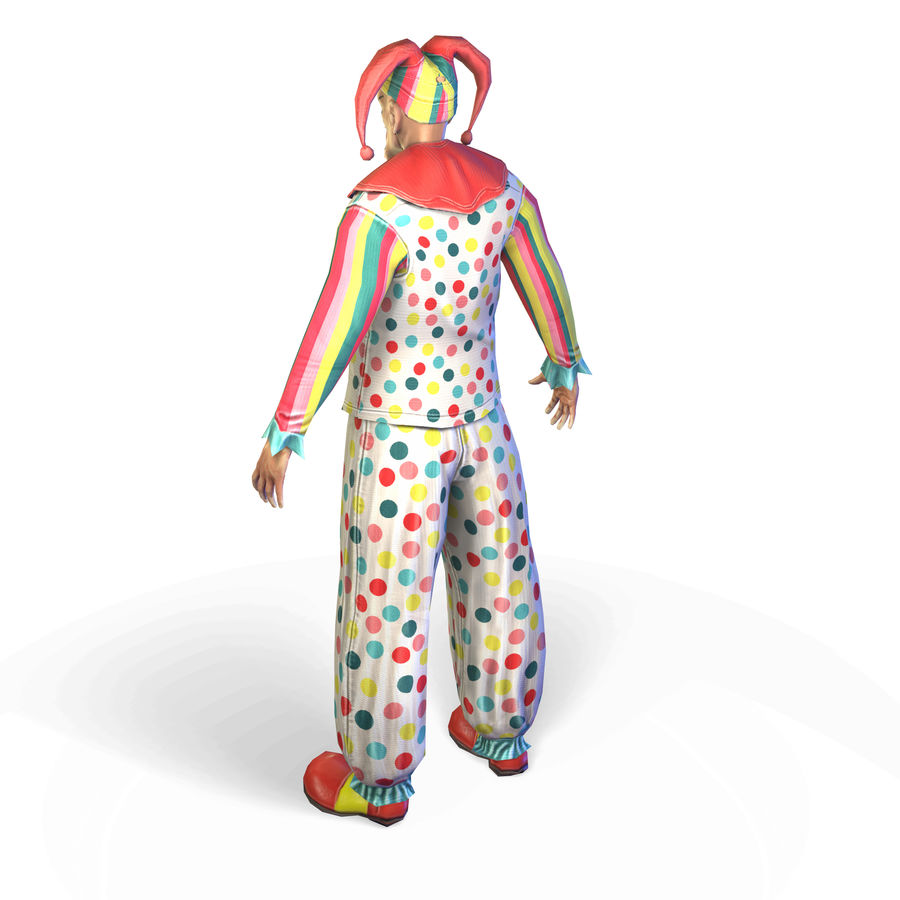 Clown royalty-free 3d model - Preview no. 15