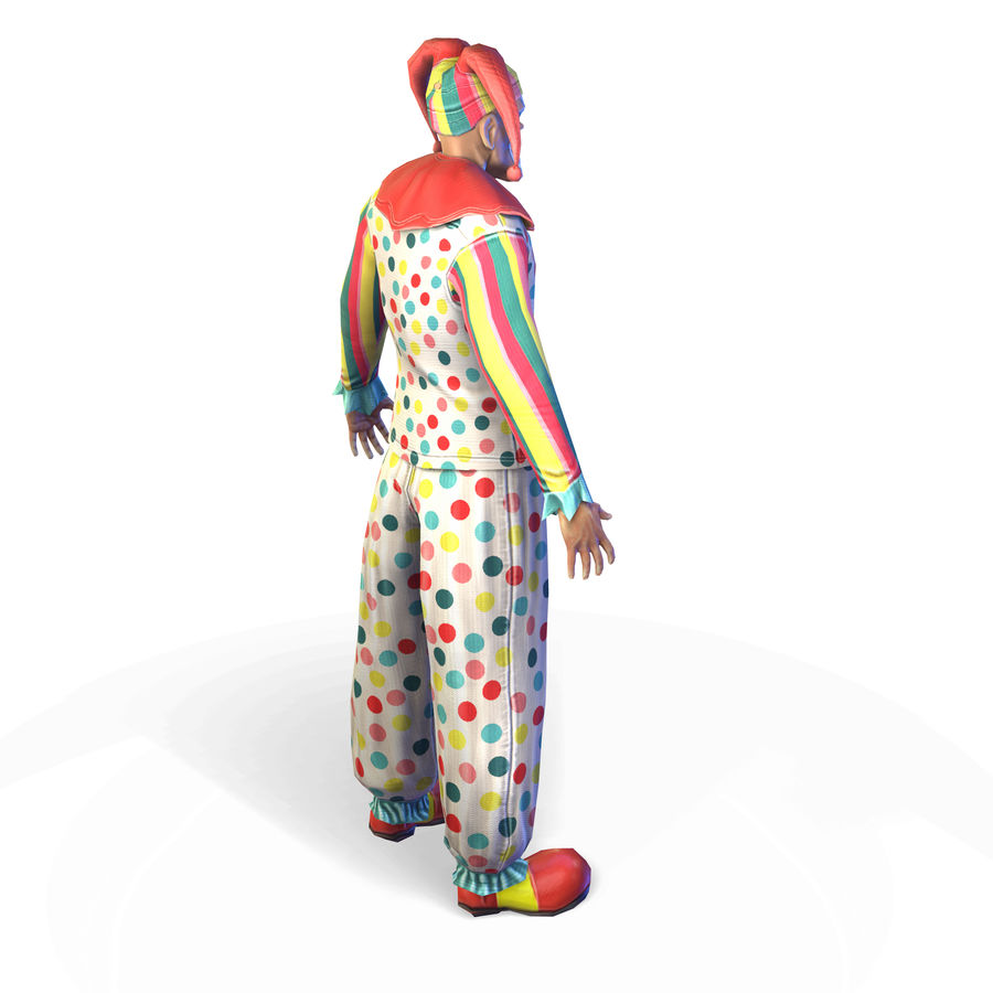 Clown royalty-free 3d model - Preview no. 13