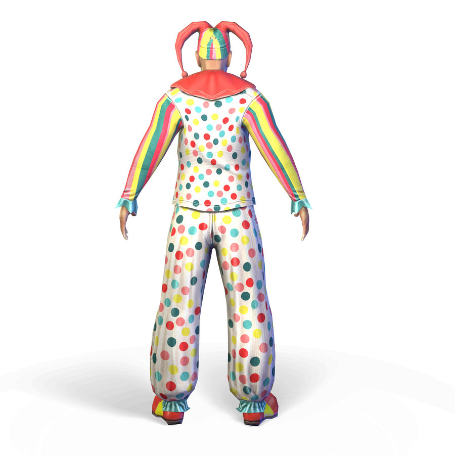 Clown royalty-free 3d model - Preview no. 6