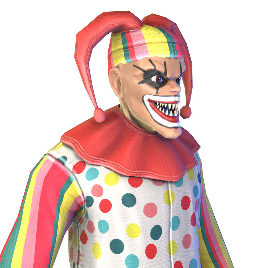 Clown royalty-free 3d model - Preview no. 30