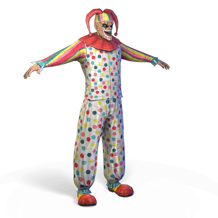 Clown royalty-free 3d model - Preview no. 28