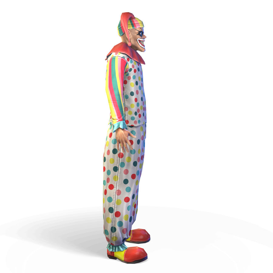 Clown royalty-free 3d model - Preview no. 4