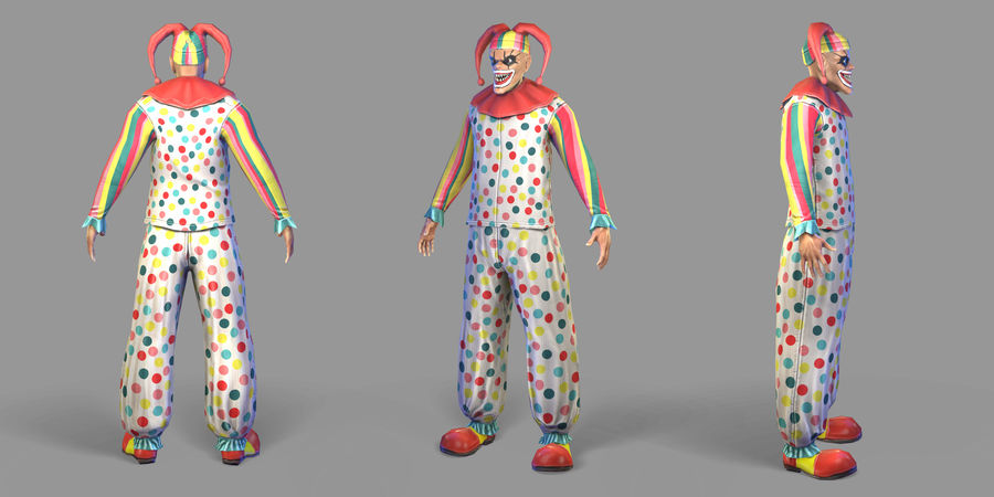 Clown royalty-free 3d model - Preview no. 31