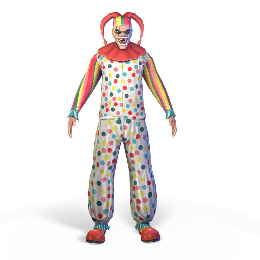 Clown royalty-free 3d model - Preview no. 2
