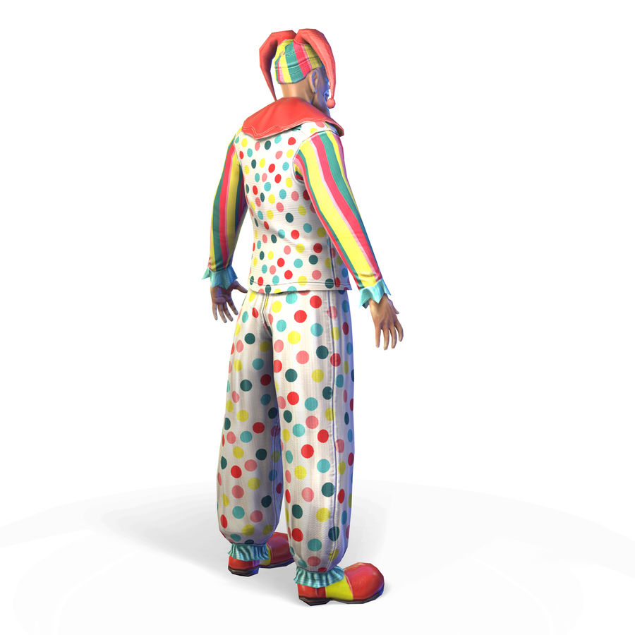 Clown royalty-free 3d model - Preview no. 5