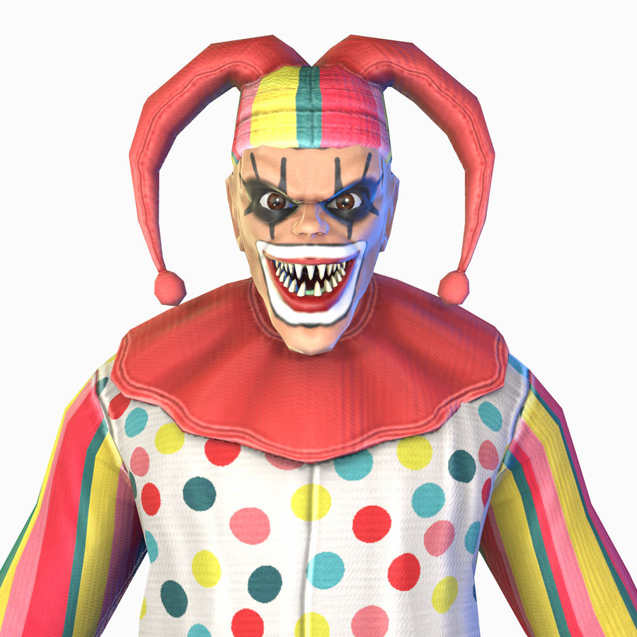 Clown royalty-free 3d model - Preview no. 29