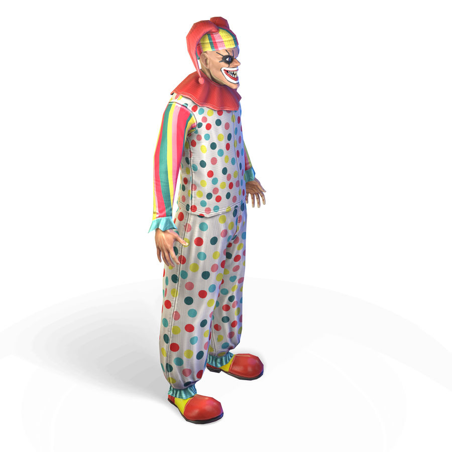 Clown royalty-free 3d model - Preview no. 12