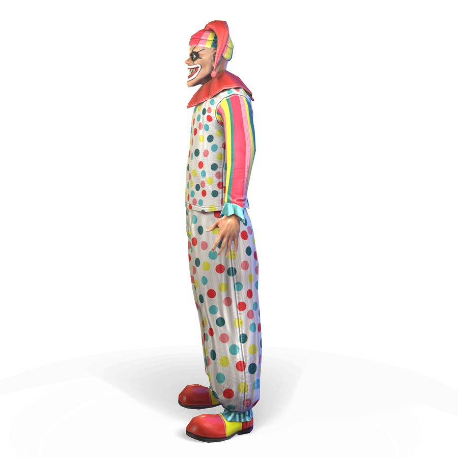 Clown royalty-free 3d model - Preview no. 8