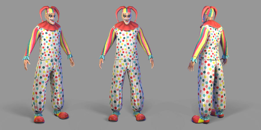 Clown royalty-free 3d model - Preview no. 32