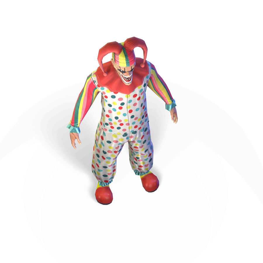 Clown royalty-free 3d model - Preview no. 23