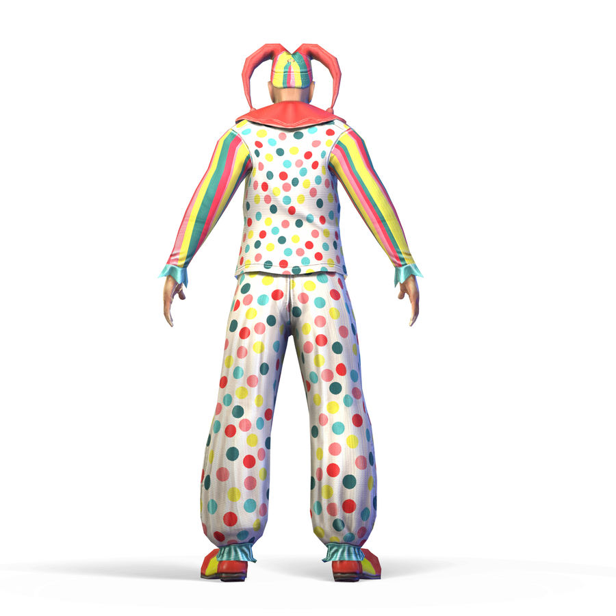Clown royalty-free 3d model - Preview no. 20
