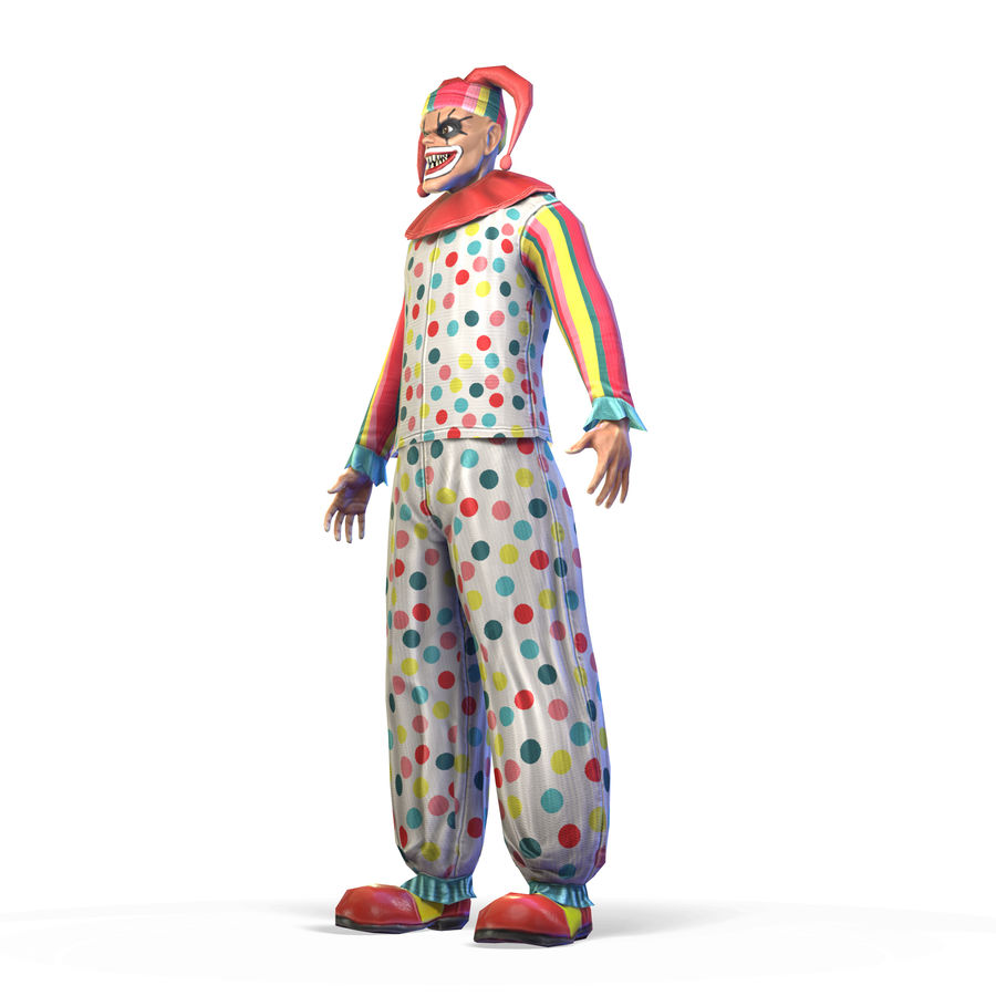 Clown royalty-free 3d model - Preview no. 18