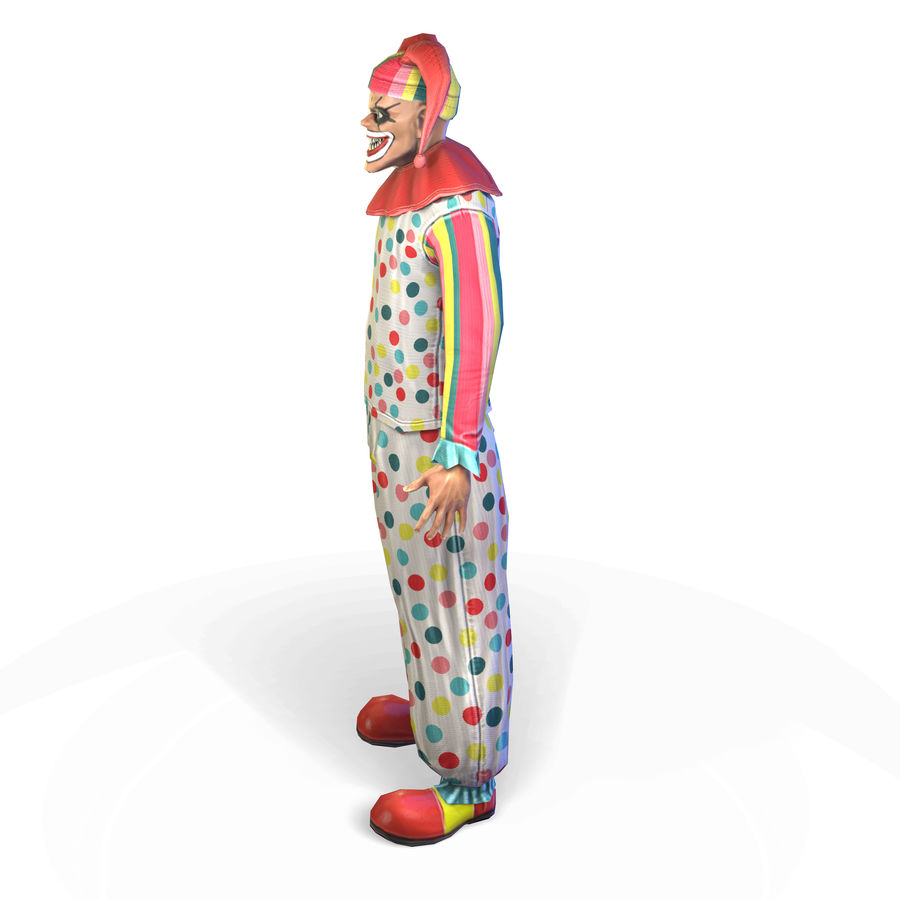 Clown royalty-free 3d model - Preview no. 16