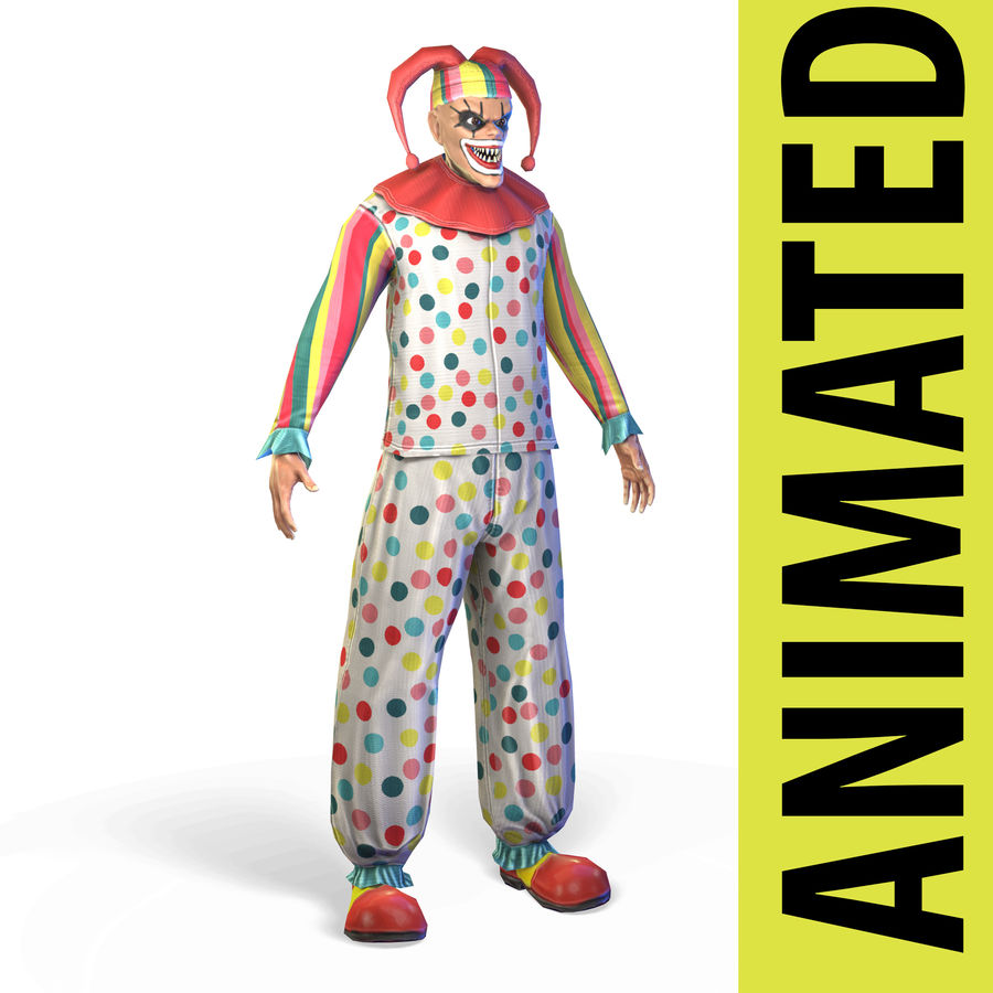 Clown royalty-free 3d model - Preview no. 1