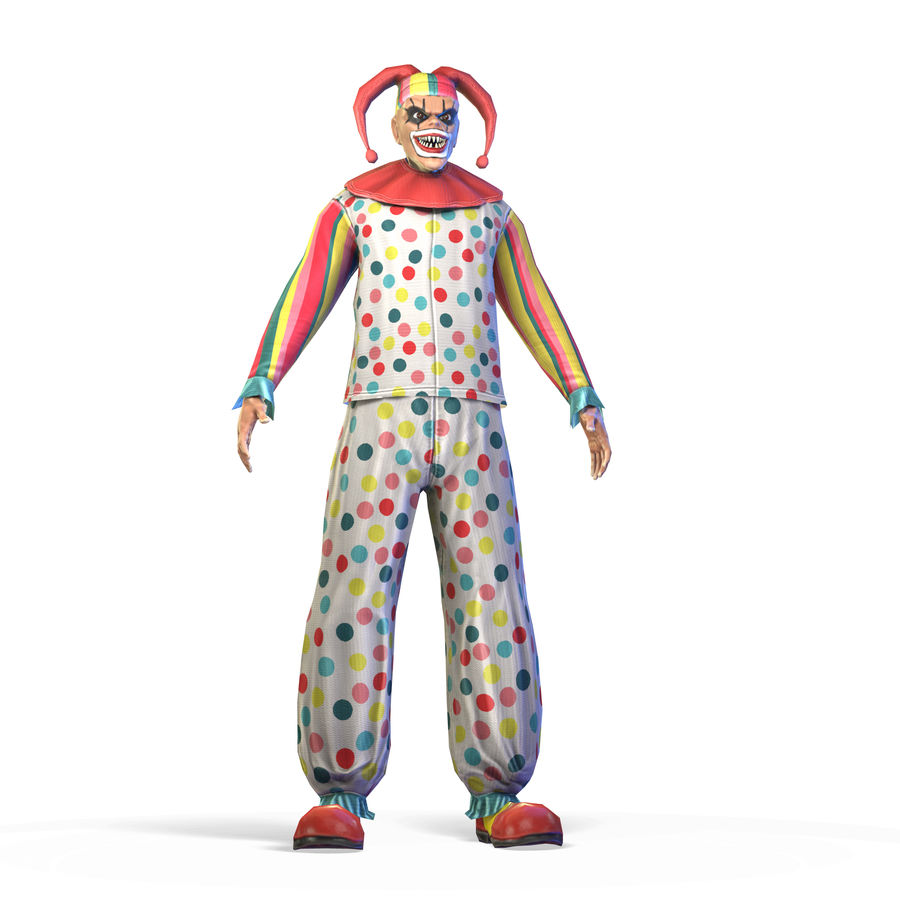 Clown royalty-free 3d model - Preview no. 17