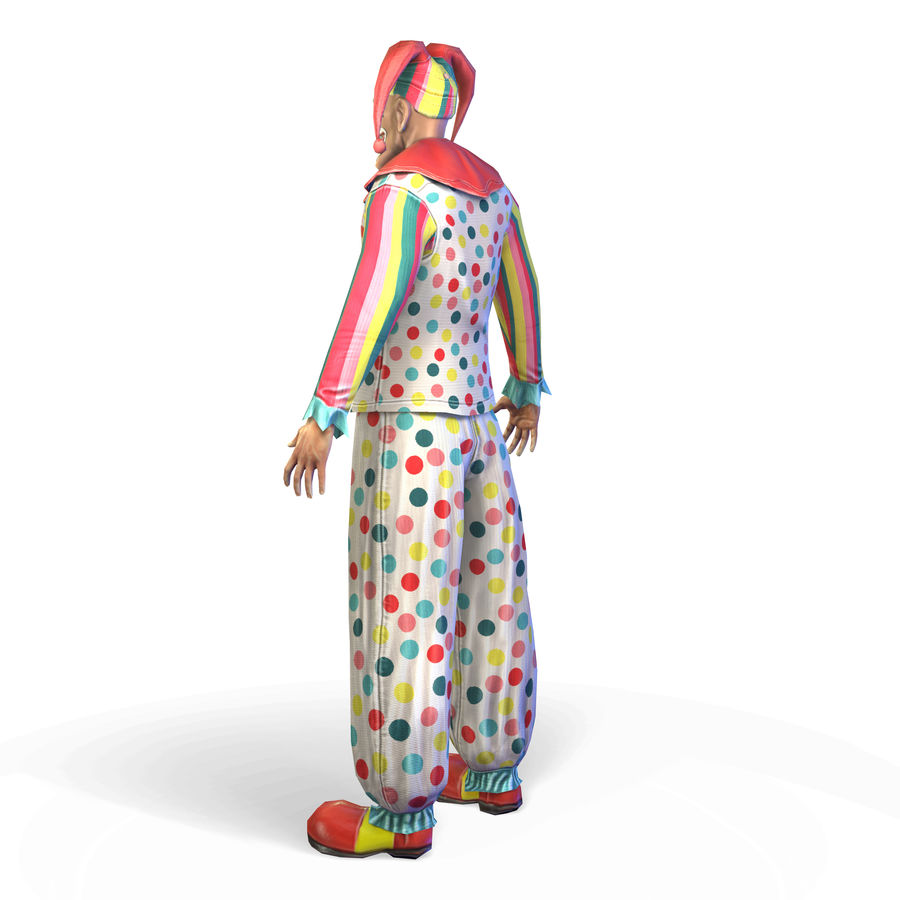 Clown royalty-free 3d model - Preview no. 7
