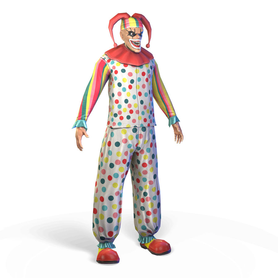 Clown royalty-free 3d model - Preview no. 3