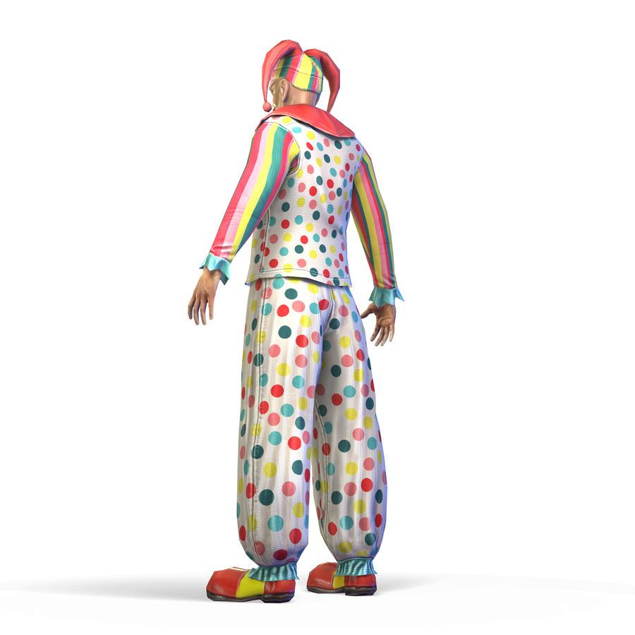 Clown royalty-free 3d model - Preview no. 19
