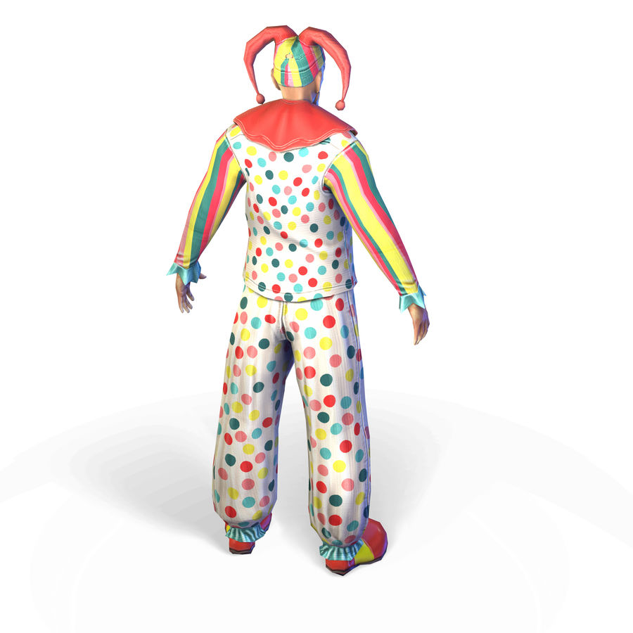 Clown royalty-free 3d model - Preview no. 14