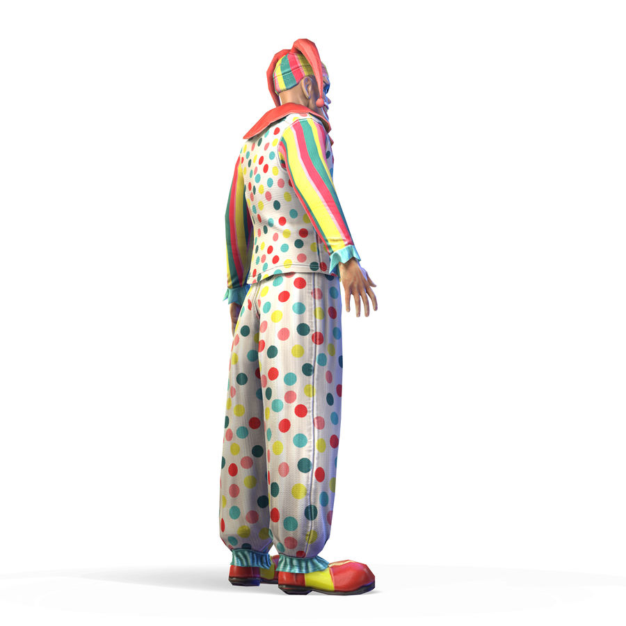 Clown royalty-free 3d model - Preview no. 21