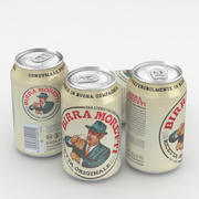 Beer Can Birra Moretti 330ml 3d model