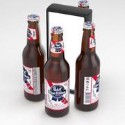 Beer Bottle Pabst Blue Ribbon 355ml 3d model