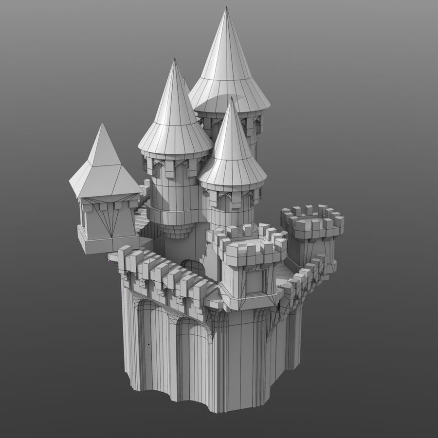 Fantasy Castle royalty-free 3d model - Preview no. 4