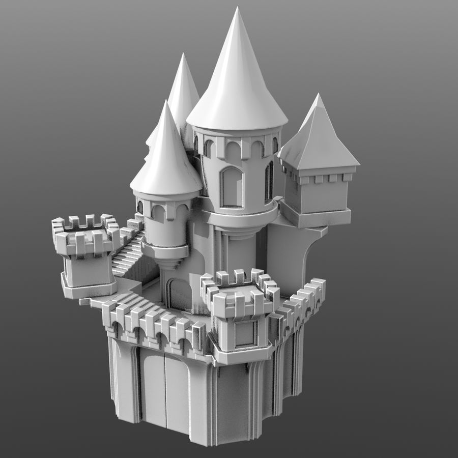 Fantasy Castle royalty-free 3d model - Preview no. 1