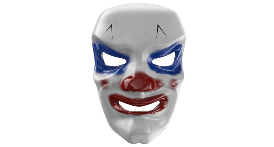 Smiley Clown Mask royalty-free 3d model - Preview no. 3