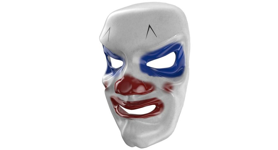 Smiley Clown Mask royalty-free 3d model - Preview no. 4