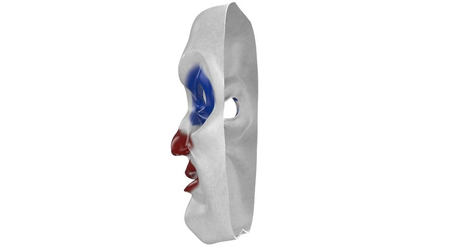 Smiley Clown Mask royalty-free 3d model - Preview no. 8