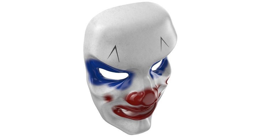 Smiley Clown Mask royalty-free 3d model - Preview no. 6