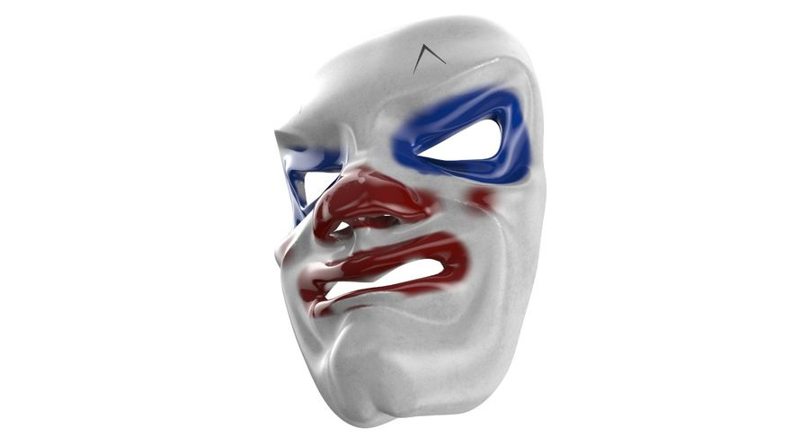Smiley Clown Mask royalty-free 3d model - Preview no. 7