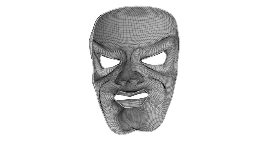 Smiley Clown Mask royalty-free 3d model - Preview no. 10