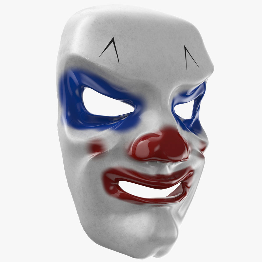 Smiley Clown Mask royalty-free 3d model - Preview no. 1