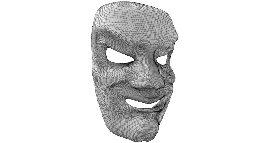 Smiley Clown Mask royalty-free 3d model - Preview no. 9